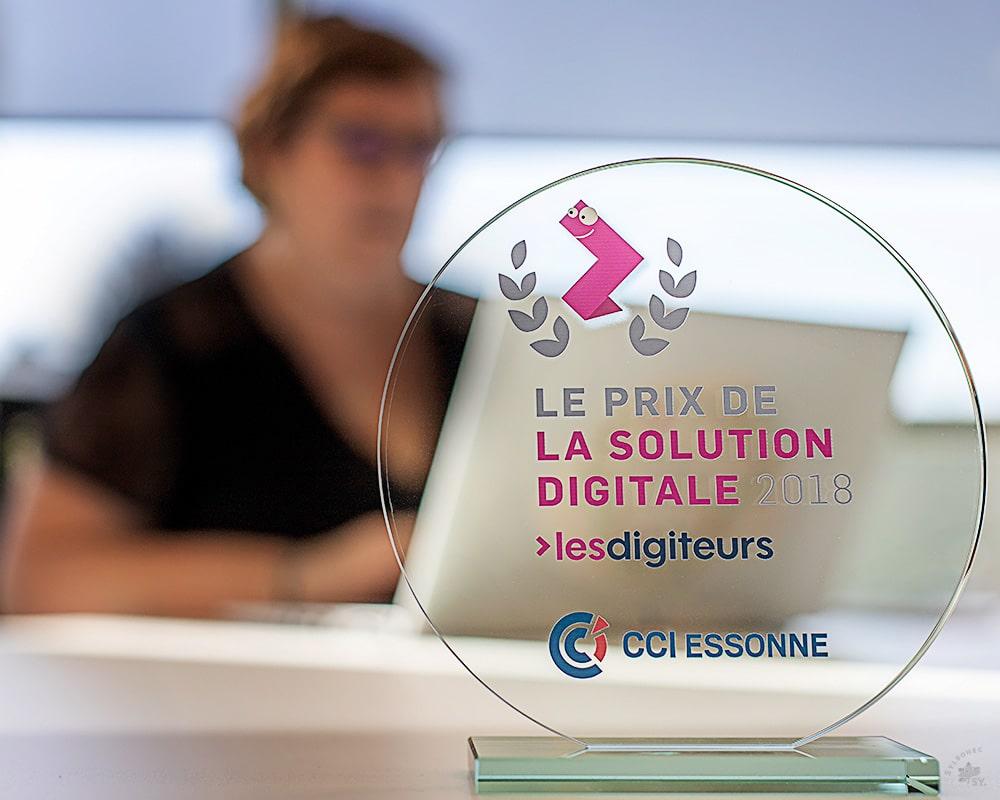 Prix Digiteurs Solution Digitale 2018 pour CORNER ART