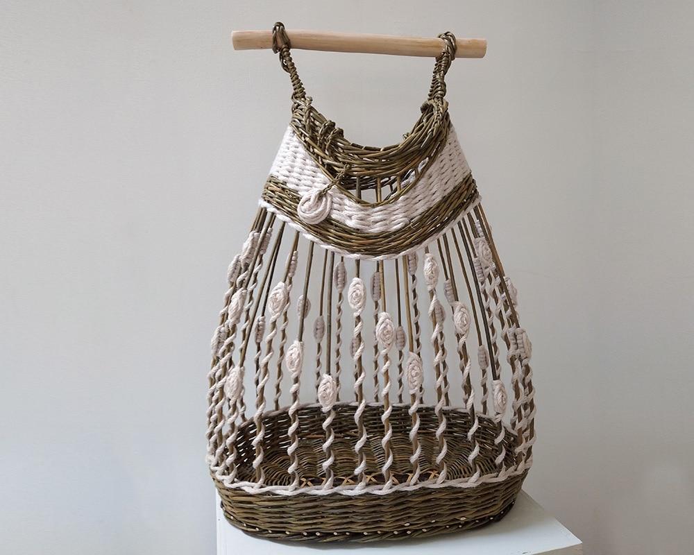 Panier en Osier La Ptite Robe Légère réalisé par Saulée Vannerie - Pascale Germain Artisan vannier en Ile de France