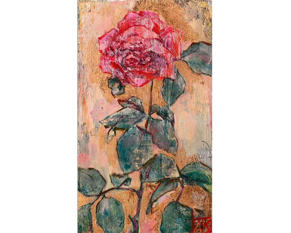 Tableau Rose de Anne-Karin Court Payen - Peintre