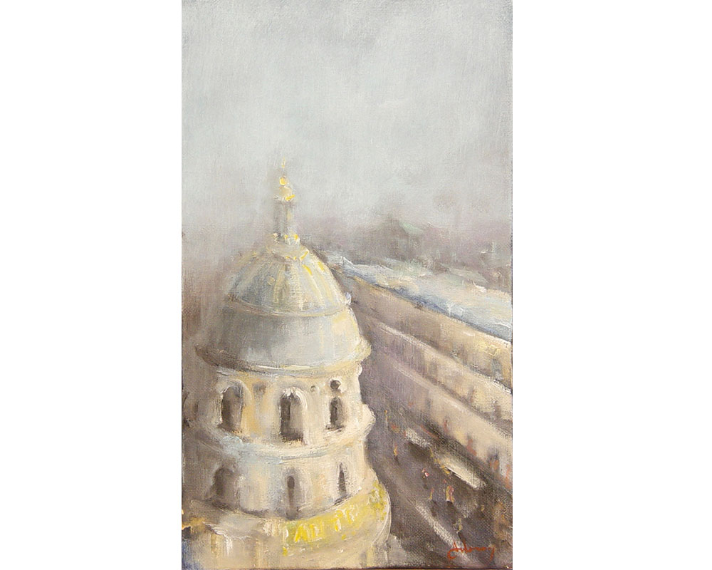 Au printemps - Huile sur toile d'Isabelle Delannoy