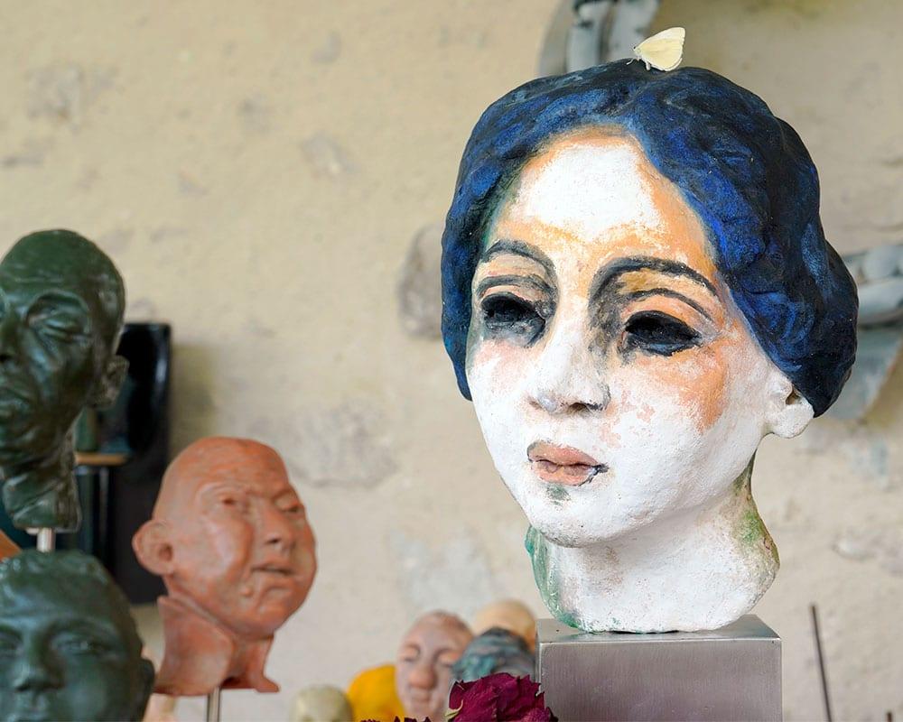 Visage de Femme de la sculpteure Anmarie Léon