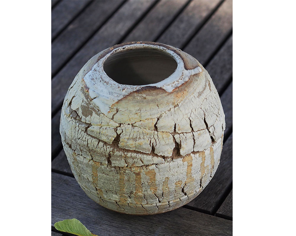 """Vase en grès """"Craquelures"""" de l'Atelier du Curieux"""