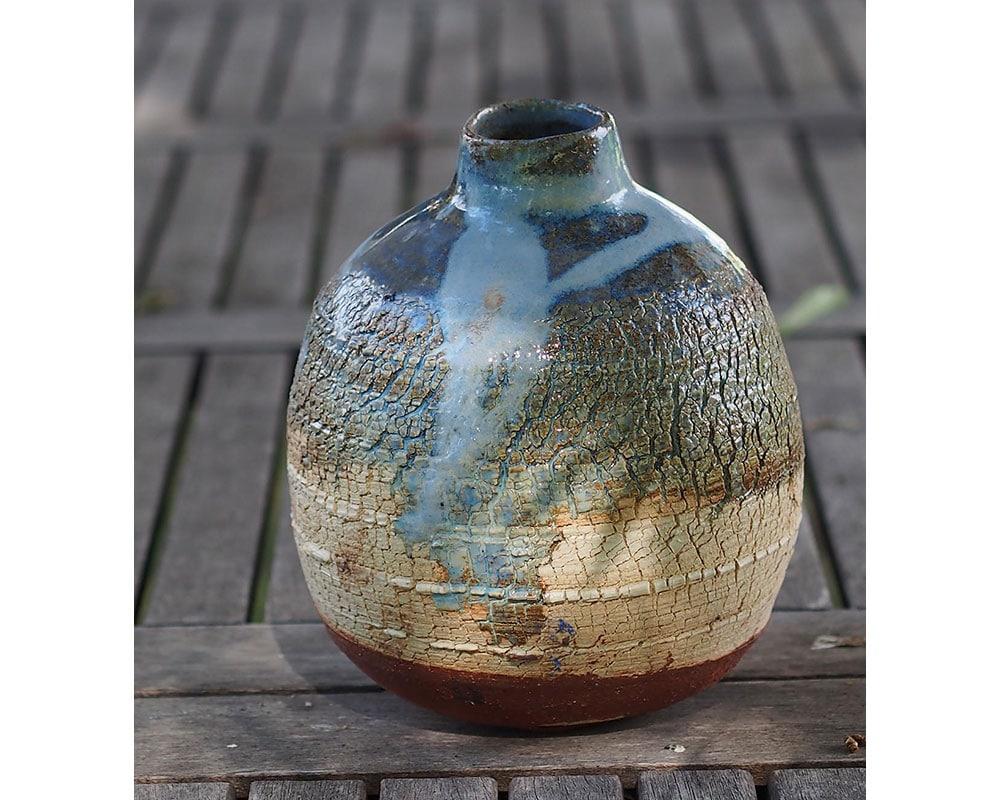 """Vase en grès """"Terre et ciel"""" de l'Atelier du Curieux"""