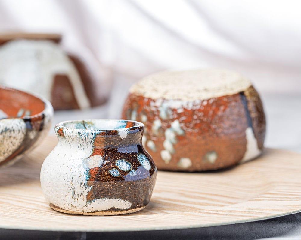 Soweto 2 et 3 - Bol et pot de lait en grès du Pot d'Hermine