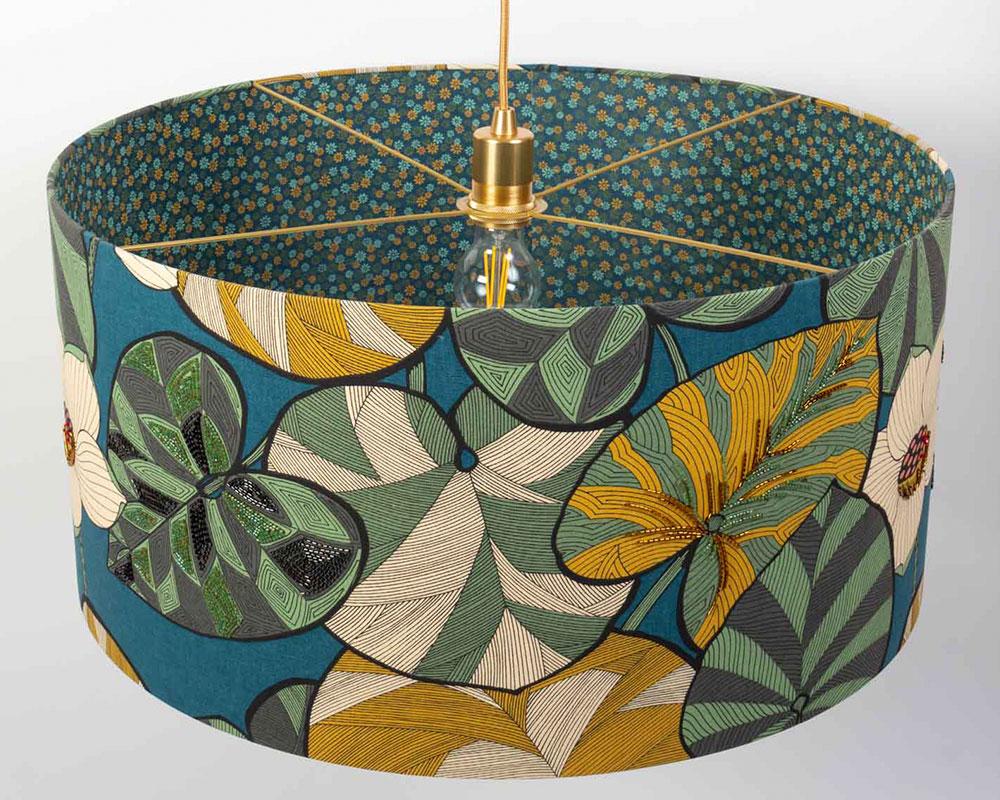 Suspension tambour style Jungle - Atelier margueritte