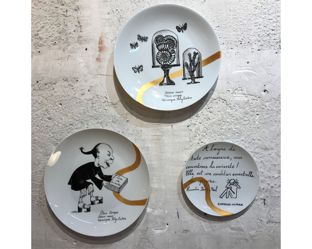 """Composition murale """"Histoire au mur - Curiosité"""""""