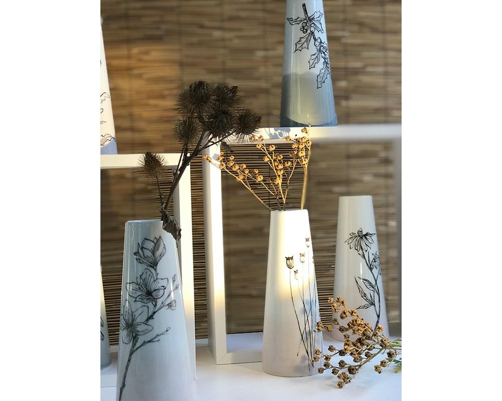 """Collection de 5 Vases """"Botanique"""""""