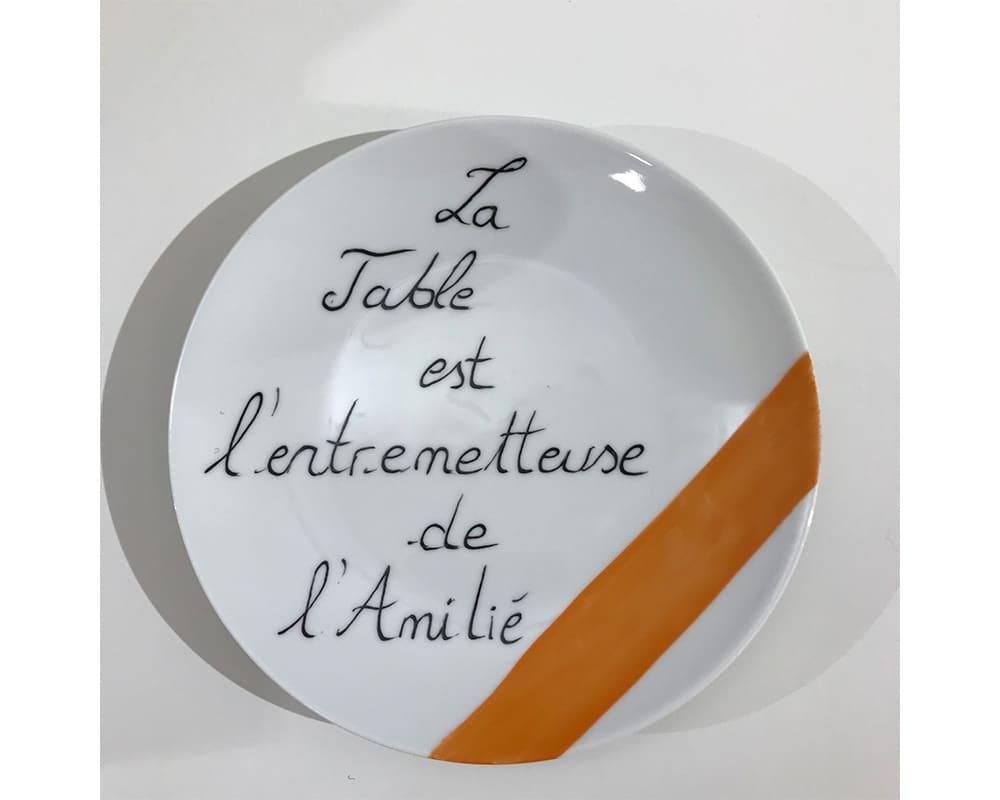 """Composition murale """"Histoire au mur - Table"""" - La Table est l'entremetteuse de l'amitié"""