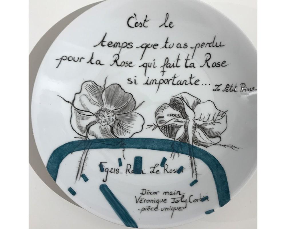 """Composition murale """"Histoire au mur - Temps"""" - Rose du petite prince"""