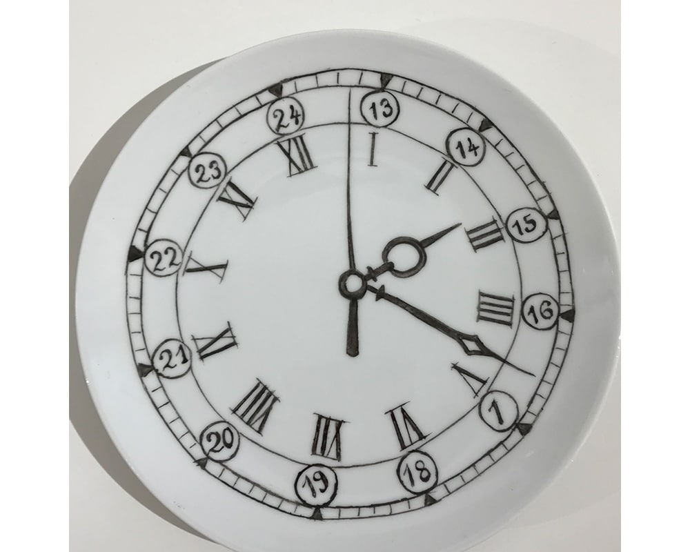 """Composition murale """"Histoire au mur - Temps"""" - Horloge"""