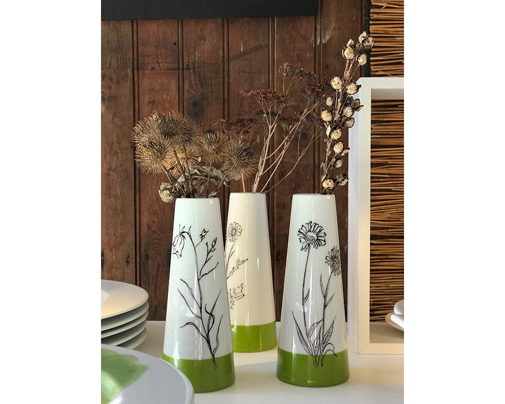 """Collection de Vases """"Botanique"""" bicolore"""