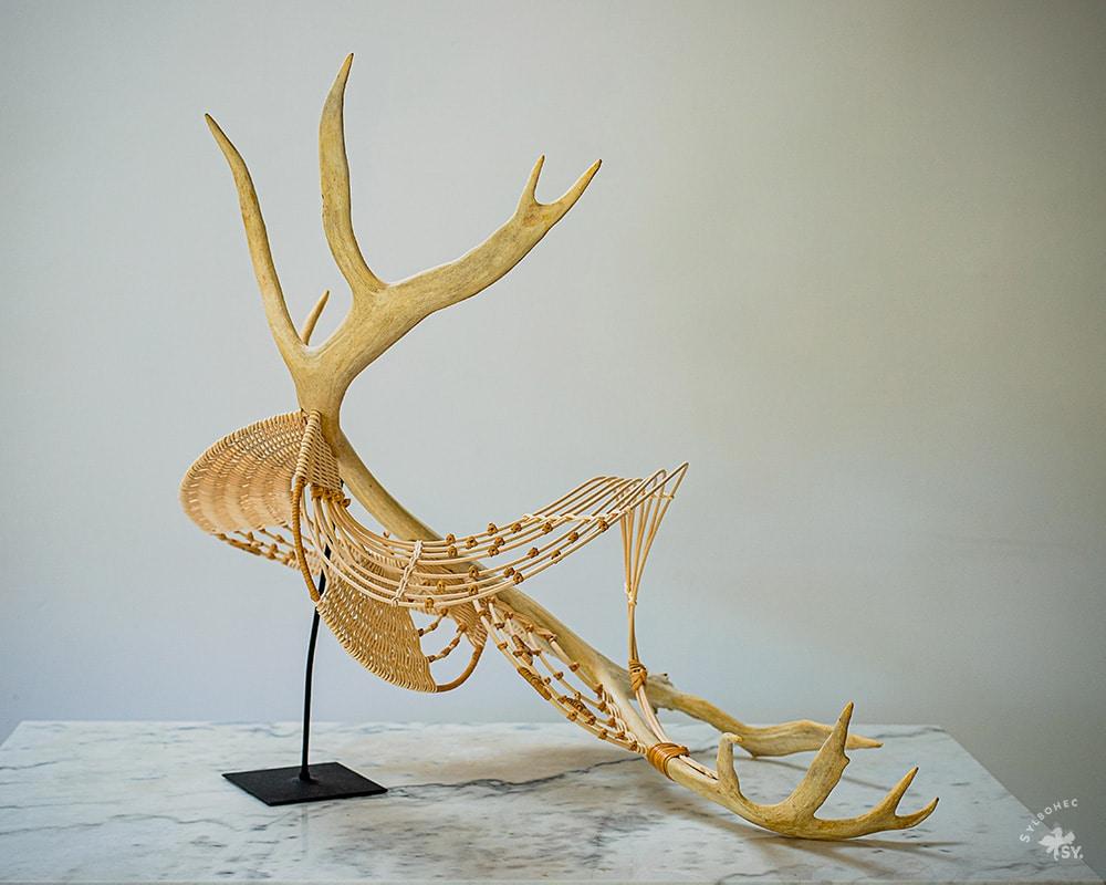 Sculpture ALLIANCE de Pascale Germain Artisan vannier - Saulée Vannerie en Ile de France