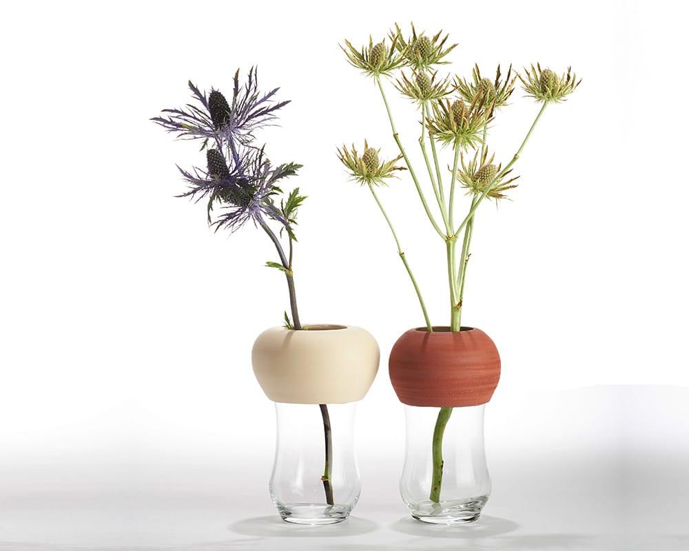 """Verre vase """"37"""" en céramique et en verre de By Manet"""