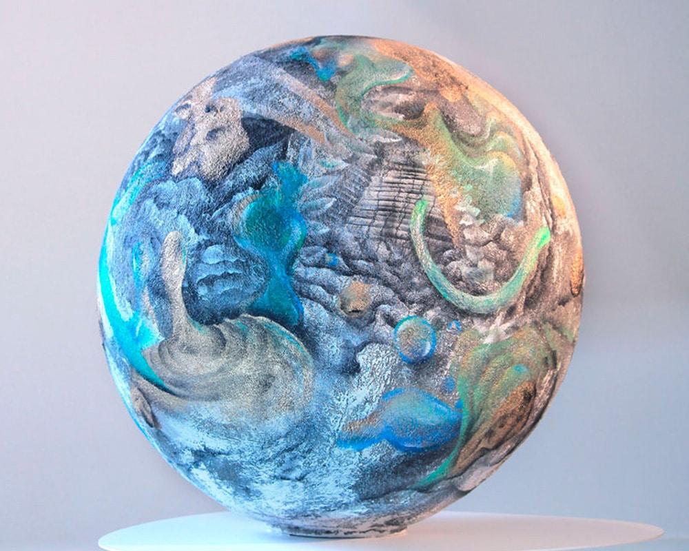 """Planète """"Oh my Gold"""" réalisée à quatre mains avec Adrien Roubens"""