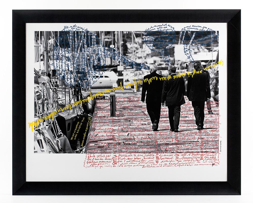 Photographie Écrite en Noir&Blanc - Trois hommes en noir - n°2/30 de la photographe Sylbohec