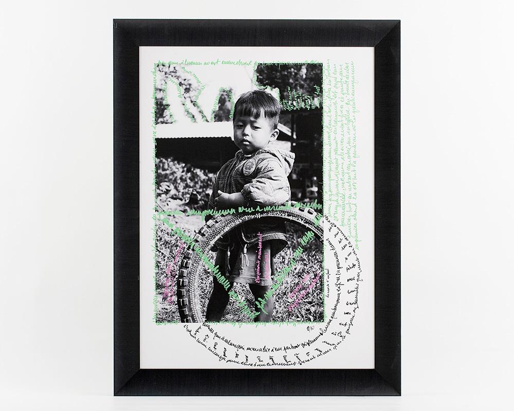 Photographie Écrite en Noir&Blanc - La roue de l'enfant - n°2/30 de la photographe Sylbohec