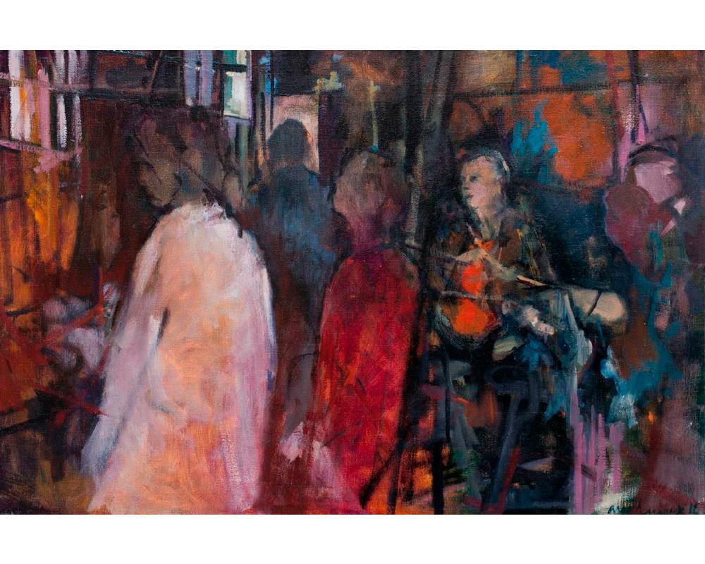 """Huile sur toile """"Atelier Étampes"""" - Carole Melmoux Peintre"""