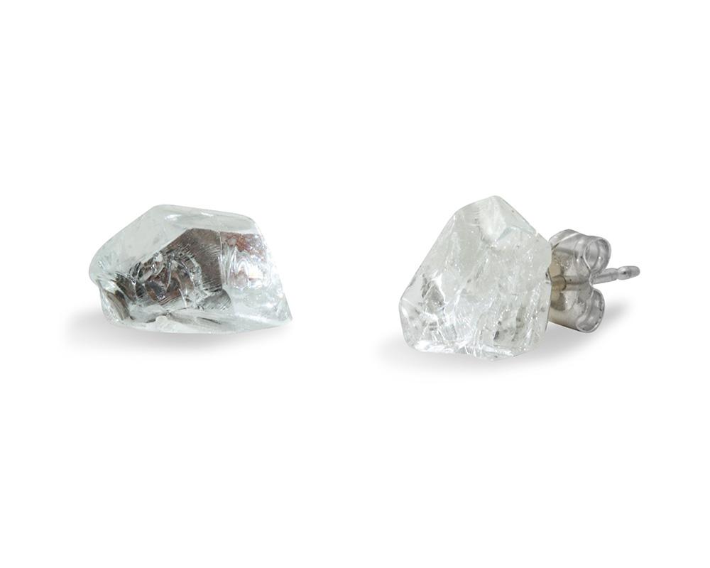 Boucles d'oreilles Diamant brut ? n°5 - Marion Fillancq Artisan Joailliere