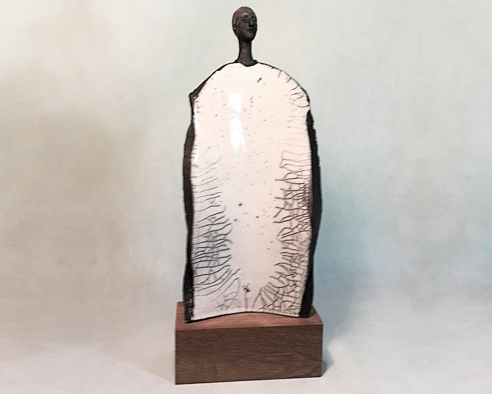 "Sculpture féminine ""DIBY"" en Raku de Marion Gayraud"