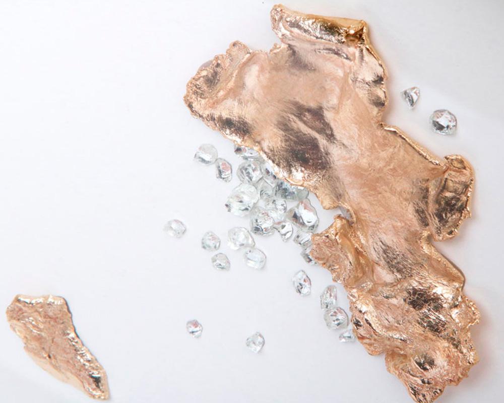 Tableau Small Continent V - Pièce unique - Marion Fillancq Artisan Joailliere