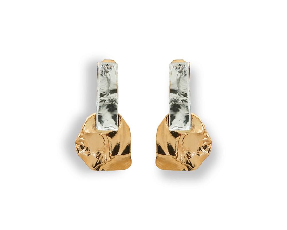 BO back to basics n° 5 - Boucles d'oreilles sculptées en bronze de Marion Fillancq