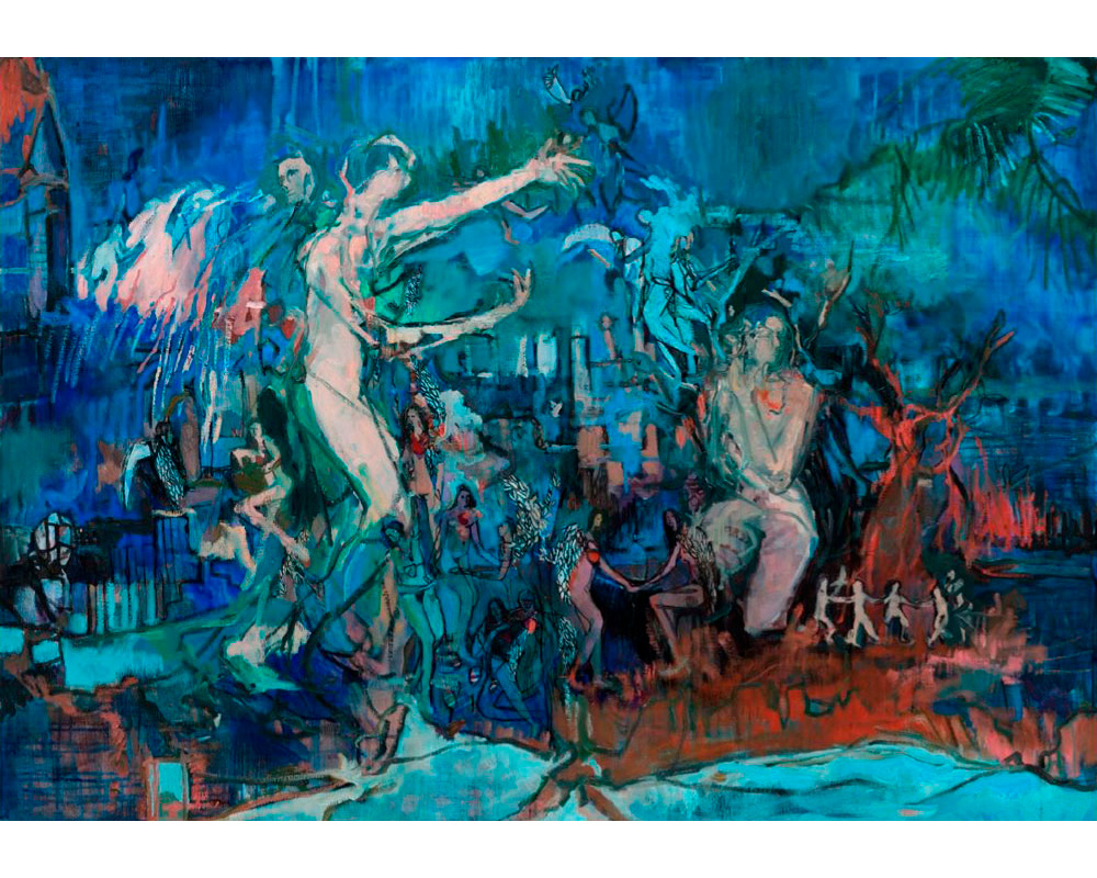 """Huile sur toile """"Échappée belle"""" - Carole Melmoux Peintre"""