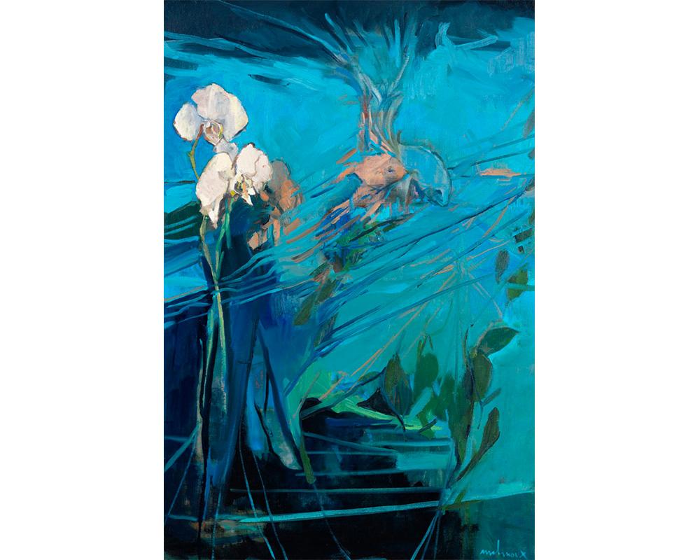 """Huile sur toile """"Flux"""" - Carole Melmoux Peintre"""