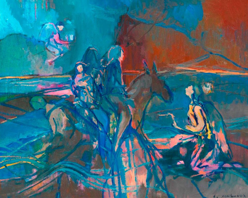 """Huile sur toile """"Invitation au voyage"""" - Carole Melmoux Peintre"""