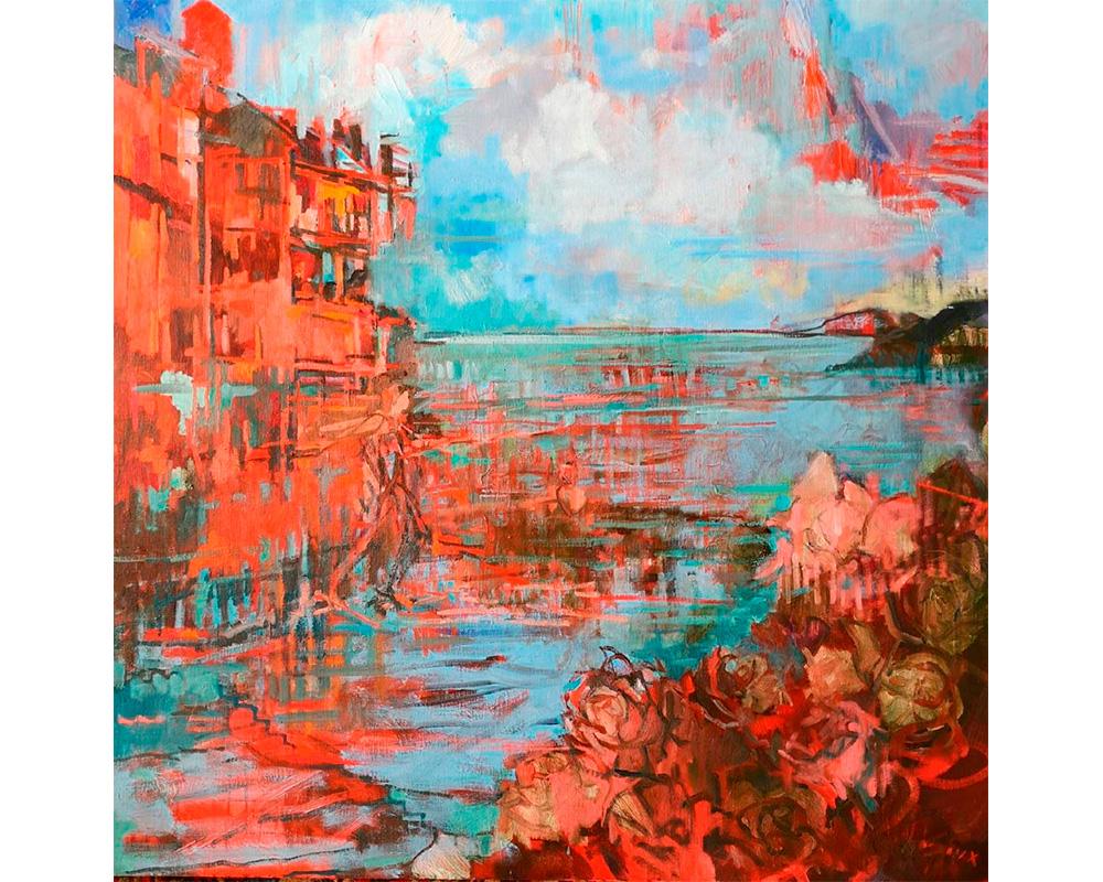 """Huile sur toile """"La Quête"""" - Carole Melmoux Peintre"""
