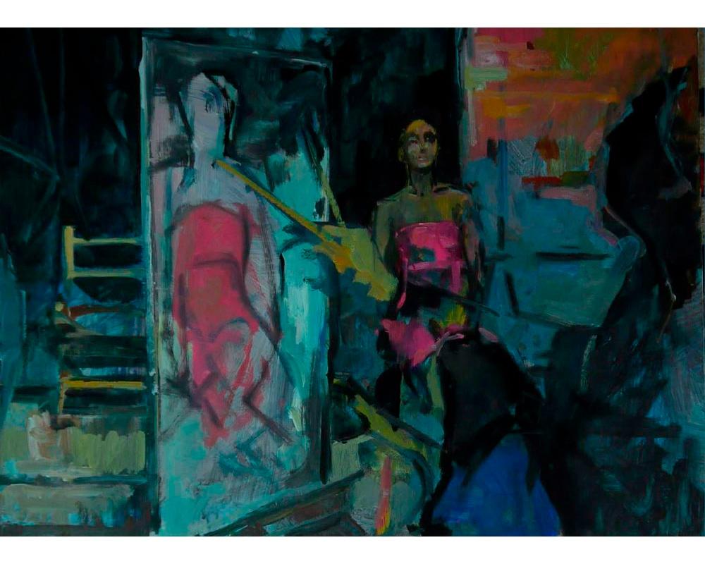 """Huile sur toile """"Séance à l'atelier"""" - Carole Melmoux Peintre"""