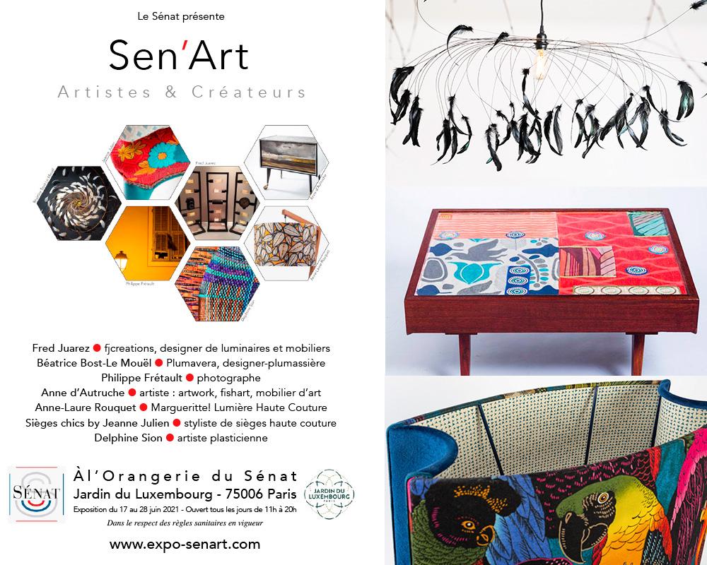 Exposition Sen'Art - Artistes et Créateurs - Orangeraie du Sénat de Paris